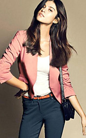 Women's Solid Color Slim Short Blazer