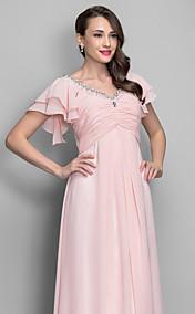 A-line/Princess V-neckl Floor-length Chiffon Grace Evening/Prom Dress