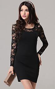 Women's Lace Splicing Mini Dress