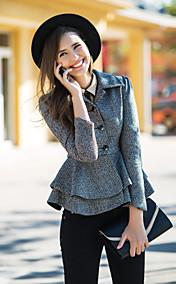 TS VINTAGE Peplum Tweed Short Coat