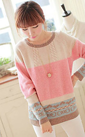 Women's cute color block sweater
