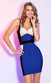 Sheath/Column Straps Short/Mini Elegant Bandage Dress