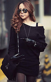 Women's Asym Cold Shoulder Mini Dress