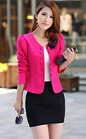 Women's Double Breast Pure Color Coat