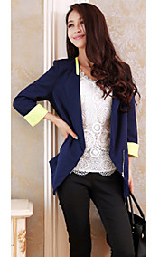 Women's Contrast Color Coat