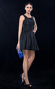 A-line Square Short/Mini Taffeta Cocktail Dress (699497)
