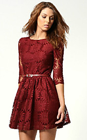 Women's Lace Cut Out Mini Dress