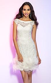 Sheath/Column Short/Mini Lace Cocktail Dress (631282)