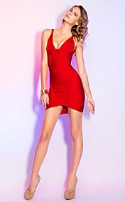 Sheath/Column V-neck Short/Mini Elegant Bandage Dress