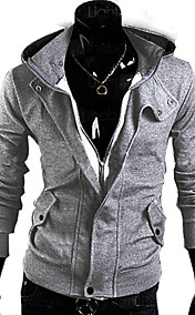 Men's  Casual Fleece Hoodies Cardigan Jacket
