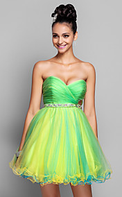 A-line/Princess Sweetheart Short/Mini Tulle Cocktail/Prom Dress