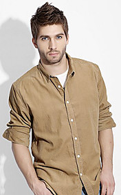 Men's Corduroy Solid Color Shirt