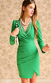 Women's Deep V Neck Slim Dress