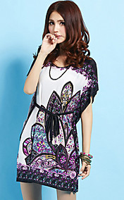 Women'S Summer Floral Print Batwing Beach Dresses