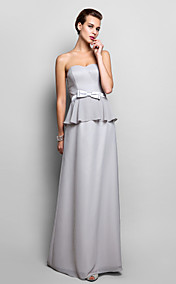 Sheath/Column Sweetheart Floor-length Chiffon Evening Dress (759801)