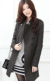 Women's Slim Wool Double-breasted Coat