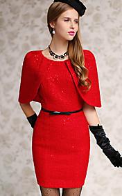 Pink Doll Elegant Cloak Mini Dress