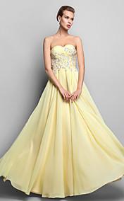 Sheath/Column Sweetheart Floor-length Chiffon Evening/Prom Dress (663692)