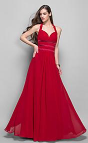 Sheath/Column Halter Floor-length Chiffon Evening Dress (759799)