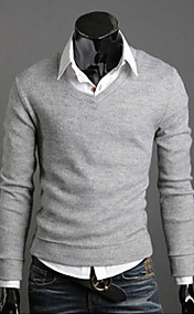 New Fashion Best Selling Spring Multi-Color Sweater Slim V-Neck Basic Sweater Male Thin Sweater Men's Clothing