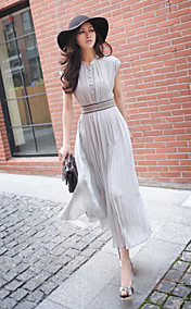 Women's Lady Sleeveless Long Dresses