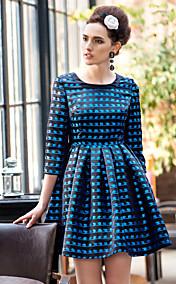 TS Vintage Long Sleeve Pleats Dress