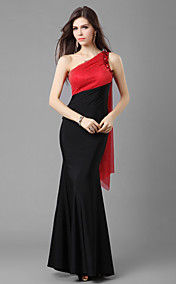 Trumpet/Mermaid One Shoulder Floor-length Jersey Evening Dress
