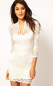 Women's Elegant Lace Bodycon Dress