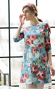 TS Print Simplicity Organza Slim Cut Dress