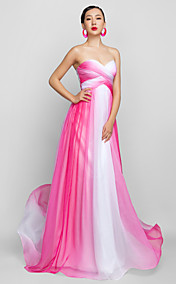 A-line Sweetheart Floor-length Chiffon Evening/Prom Dress (759955)
