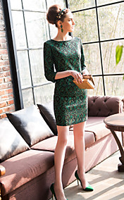 TS Three Quarter Sleeve Lace Sheath Dress