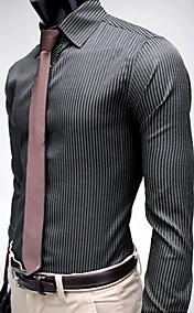 Men's Stripe Stylish Slim Fit Long Sleeve Shirt