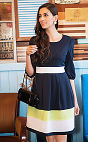 TS Contrast Color Swing Dress