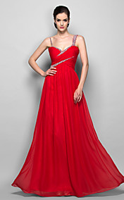 Sheath/Column Straps Floor-length Chiffon Evening/Prom Dress
