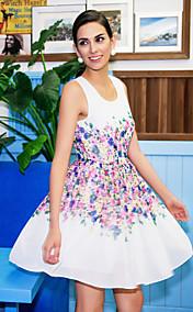 TS Flora Print Sleeveless Swing Dress