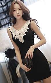 Women's Crochet Lace Bodycon Dress