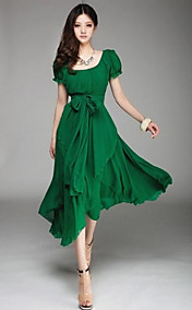 Women's Irregular Chiffon Long Dress