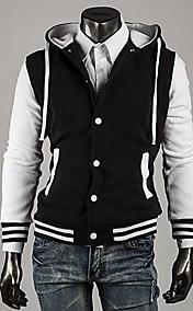 Men's Slim Hooded Contrast color  Sweater