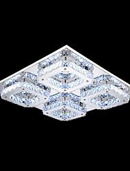 umei ™ førte krystal flush mount, 4 lys, moderne transparent galvanisering rustfrit stål