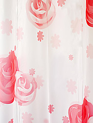 Rose Shower Curtain High Class Red Imprimir W71 x L71