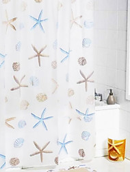 Shower Curtain Starfish Imprimir W71 x L71