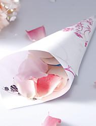 קונוס נייר פרחוני אישית כותרת - סט 12