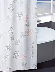 Sprchový závěs Polyester zelená a oranžová květinovým potiskem