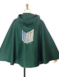 Inspired by Cosplay Cosplay Anime Cosplay Costumes Cosplay Tops/Bottoms Patchwork Green Cloak For