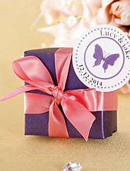 Personalizované Favor Tag - Purple Butterfly (Set of 36)