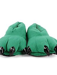Deslize encantadores Garra dinossauro verde de lã das mulheres do deslizador
