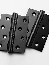 101,6 mm × 76,2 mm Blcak Stahlkugellager Hochwertige Edelstahl-Türscharnier - 2 Stück