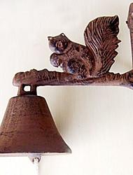 Europese en Amerikaanse Retro Rustiek's Eekhoorn van smeedijzer deurbel