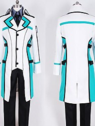 Inspired by Cosplay Cosplay Anime Cosplay Costumes Cosplay Suits Patchwork White Black Blue Long Sleeve Coat T-shirt Pants For