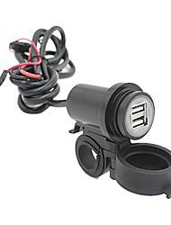 motorcykel mobil vattentät stänk 2 USB strömförsörjning port uttag laddare 2.1a